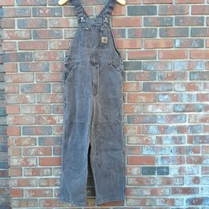 Carhartt brown bib overalls